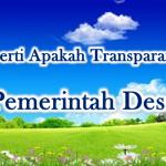 Pengertian Transparan Pada Pemerintah Desa